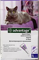 Капли Bayer Advantage 80 от блох, пипетка 0,8мл