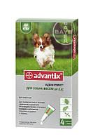 Капли Bayer Advantix Адвантикс от блох и клещей для собак до 4 кг, пипетка 0,4мл