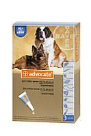 Капли Advocate от глистов, блох, клещей для собак весом от 25 кг, 4мл/ 1 шт