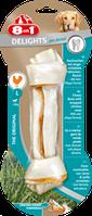 Кость 8in1 Delights Bone Dental, профилактика образования зубного камня, с мясом, (1шт), L/20см