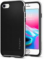 Чехол Spigen для iPhone 8 / 7 Neo Hybrid 2, Satin Silver (054CS22359), фото 1