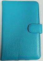 Чехол для планшетов с диагональю 7 дюймов голубой сделанный из искусственной кожи , фото 1