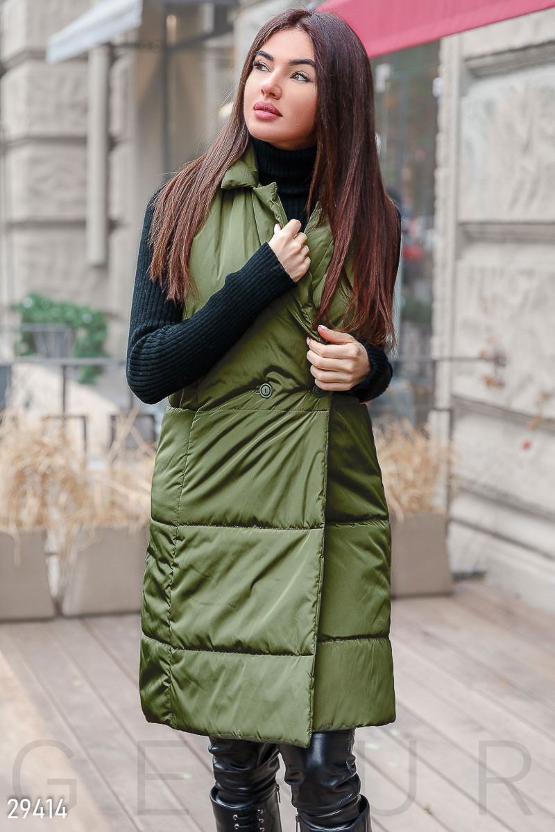 Утепленный стеганный женский жилет S M L XL 2XL