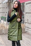 Утепленный стеганный женский жилет S M L XL 2XL, фото 1