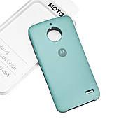 Cиликоновый чехол на Moto E4 Soft-touch Mint