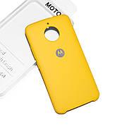 Cиликоновый чехол на Moto E4 Plus Soft-touch Yellow