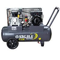 Компрессор ременной двухцилиндровый 2кВт 385л/мин 10бар 50л Sigma Refine (7044021)