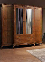 Шафа для одягу 4Д2Ш Палермо Мебус з дзеркалом темний, фото 1