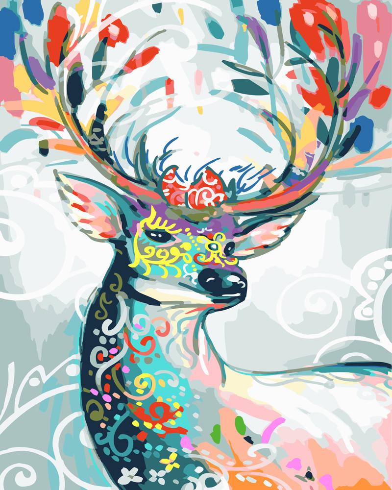 Картина по номерам (BK-GT61051) Сказочный олень