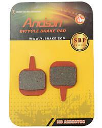 Колодки тормозные велосипедные Andson К-3672 дисковые