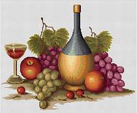 """Набор для вышивания крестиком """"Натюрморт с вином"""""""
