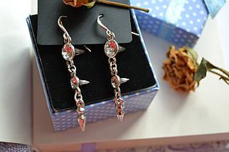 Серьги с  покрытием стерлингового серебра и камнями Pilgrim, фото 2