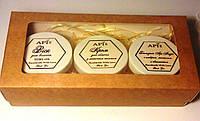 Набор апикосметики «Крафт» крем для лица, бальзам для лица и воск для волос
