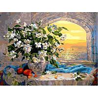 Картина по номерам  Букет жасмина. Худ. Ольга Дандорф, 40x50 см., Babylon