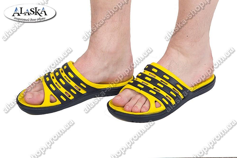 Шлепанцы мужские желто-черные (Код: П-17)