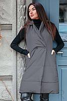 Утепленный стеганный женский жилет,черный S M L XL 2XL, фото 1