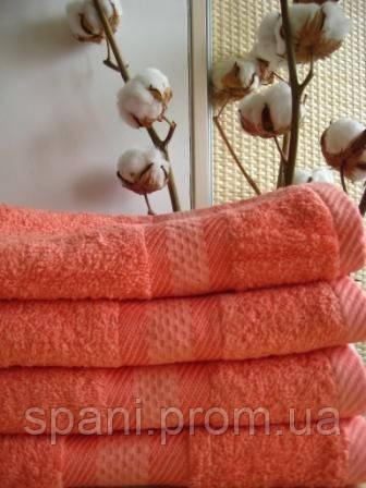 Махровое полотенце, 40*80 , 100% хлопок, 500 гр/м2, Пакистан, Коралл