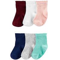Комплект летних носочков для девочки Carters ассорти