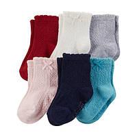 Комплект летних носочков для девочки Carters ассорти с бантиком