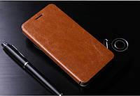 Кожаный чехол книжка MOFI для Meizu M1 Note коричневый