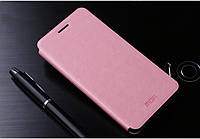Кожаный чехол книжка MOFI для Meizu M1 Note розовый, фото 1