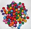 """Помпоны разноцветные """"ёжики-3""""  код 736 упаковка 10 шт."""