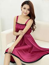 Ночная сорочка 0189 вишневая, фото 2