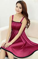 Ночная сорочка 0189 вишневая, фото 3