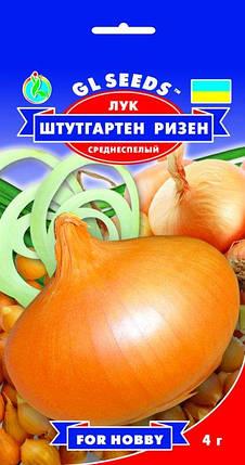 Лук Штутгартен Ризен, пакет 4 г - Семена лука, фото 2