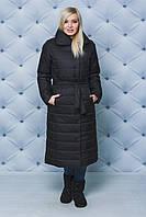 """Зимнее пальто """"Серафима"""" (42-58) черное"""