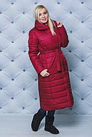 """Зимнее пальто """"Серафима"""" (42-58) бордо"""