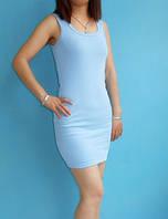 Платье майка туника Рretty голубая