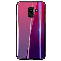 TPU+Glass чехол Gradient Aurora для Samsung Galaxy A6 (2018), фото 1