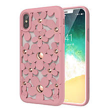 SwitchEasy Fleur чехол для iPhone X/XS Rose Pink (GS-81-146-18)