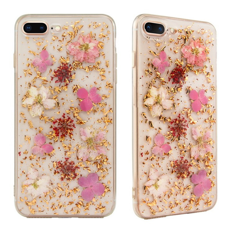 SwitchEasy Flash чехол для iPhone 8 Plus Rose Gold Flower (GS-55-444-15)