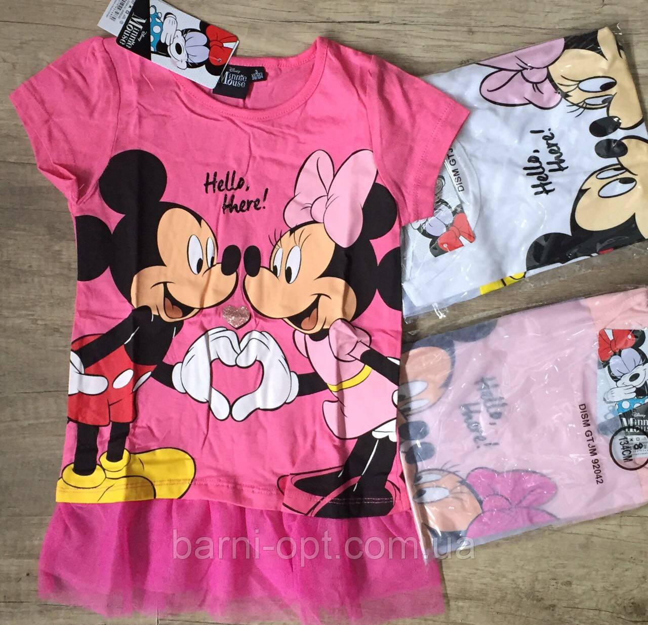 Туники для девочек оптом, Disney, 3-8 рр.