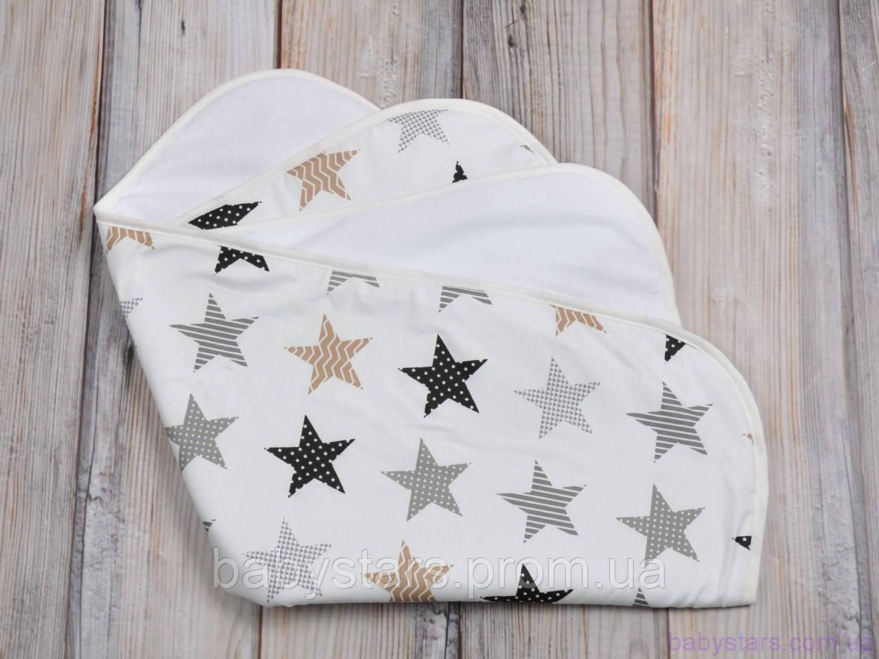 Пеленка махровая непромокаемая (размер 60*80 см), Звезды