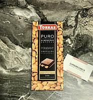 Черный испанский шоколадTorras с цельным миндалем, не содержит глютен 200 грм
