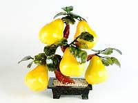 Дерево счастья (30х25х20 см) Камень, Пластик. Груши. 5 плодов