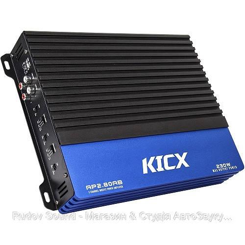 Усилитель Kicx AP 2.80AB (2 канала | 80w в 4Ω | 120w в 2Ω | Класс:AB)