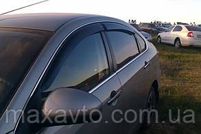 Дефлекторы боковых стекол Nissan Almera (G11) Sd 2012 (Ниссан Альмера) Cobra Tuning