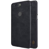 Кожаный чехол (книжка) Nillkin Qin Series для OnePlus 5T Черный