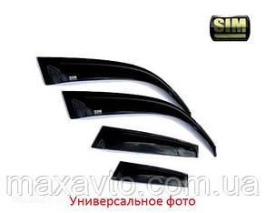 Дефлекторы боковых стекол TOYOTA CAMRY 2006-2011 темный/хром (Тойота Камри) SIM