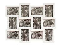 Фоторамка белая  на 12 фото