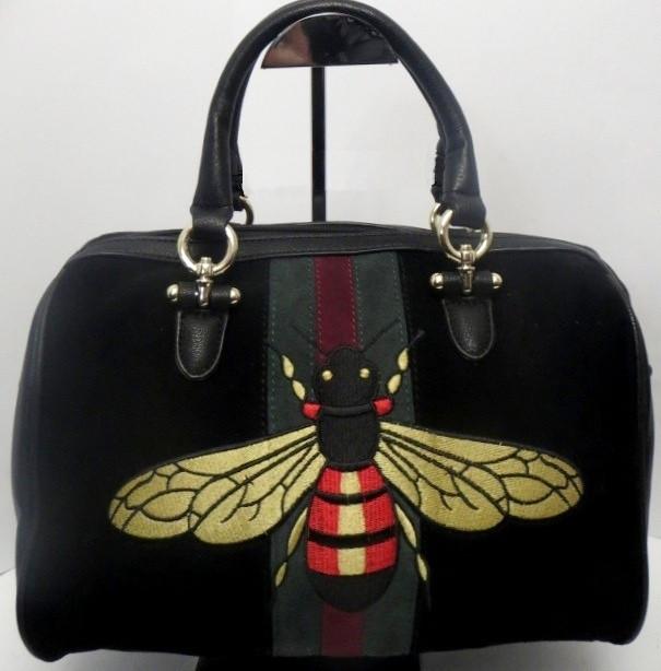 Красивая женская сумка с пчёлкой копия бренда Gucci
