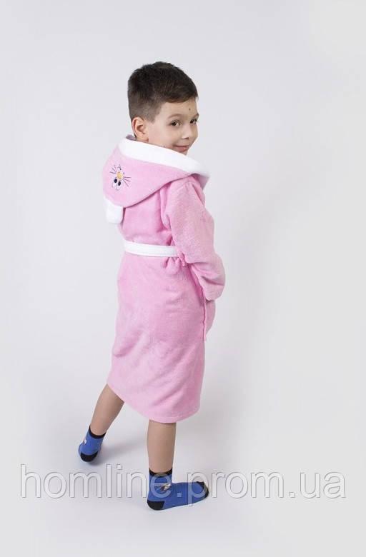 Халат детский Lotus Зайка новый 3-4 года розовый