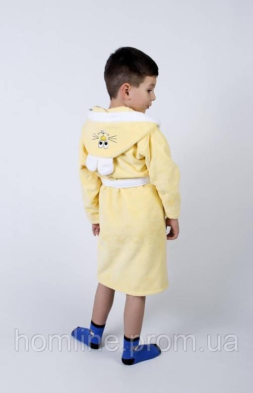 Халат детский Lotus Зайка новый 11-12 лет желтый
