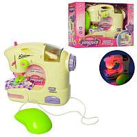 Детская Швейная машинка 17см, шьет, педаль управления, свет,на батарейках6971A