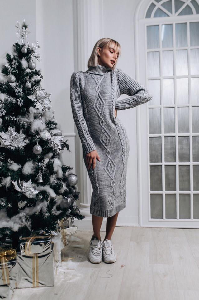 8c5c5a68d6b Купить Вязаное длинное платье с высоким горлом liv14032265 недорого ...