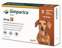 Симпарика ОРИГИНАЛ Simparica таблетки от блох и клещей для собак весом от 5 до 10 кг (3 шт)